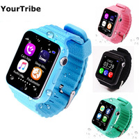 Smartch Children Security Anti Lost GPS Tracker V7K smart watch SIM /TF With camera Kids gift SOS Emergency For Iphone&Android