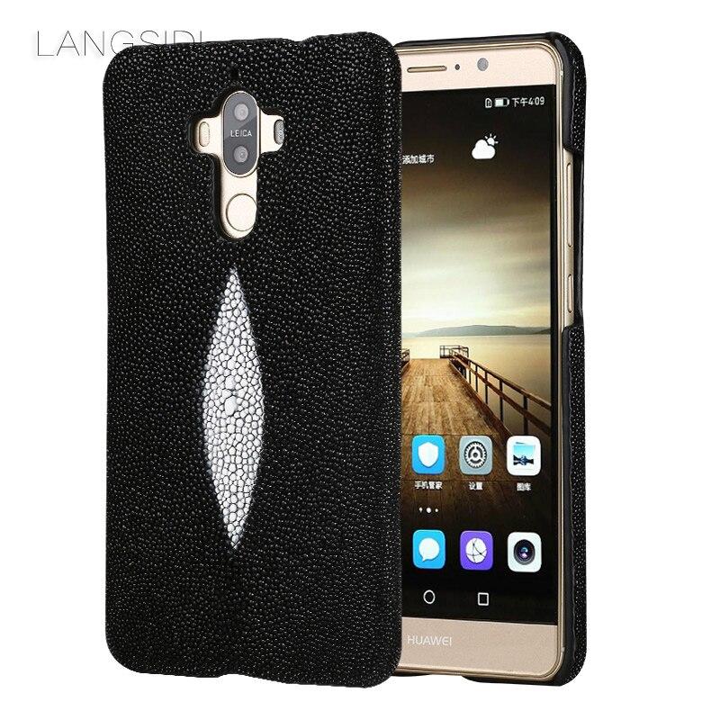 Wangcangli marque étui de téléphone portable perle poisson demi-paquet de étui de téléphone portable pour Huawei Mate 9 coque de téléphone traitement personnalisé