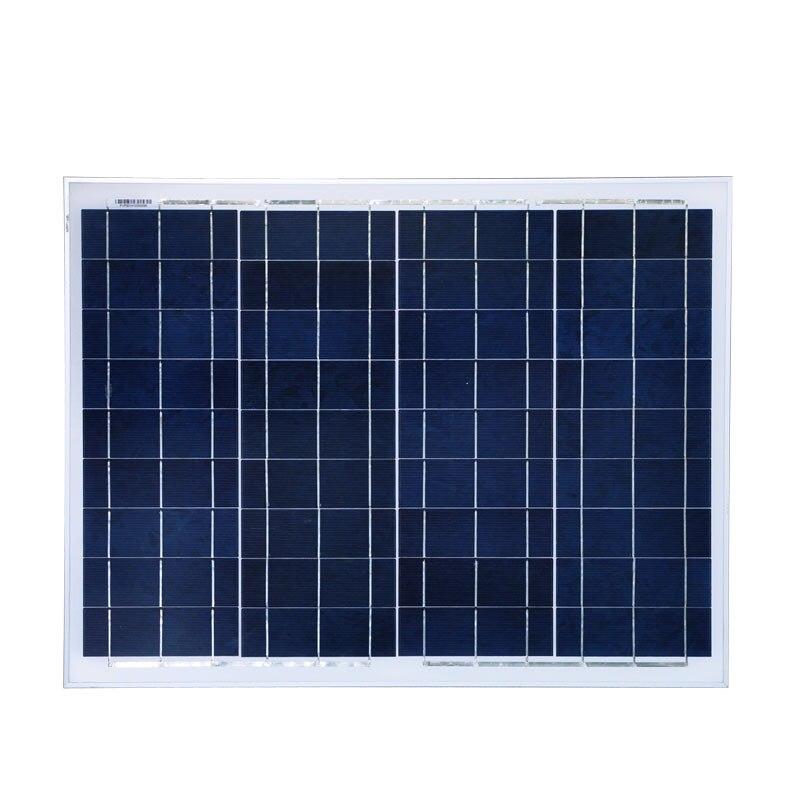 Solar Panel 12v 50w Polycrystalline Mobile Solar Charger Caravan Camp Car Solar Home System Motorhome RV LED Light Lamp