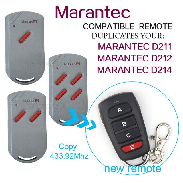 Copy Marantec D211 Marantec D212 Marantec D214 Remotes Universal