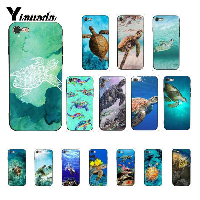Yinuoda морская черепаха Аква Coque Shell чехол для телефона для iPhone 8 7 6 6S 6Plus X XS MAX 5 5S SE XR Fundas Capa