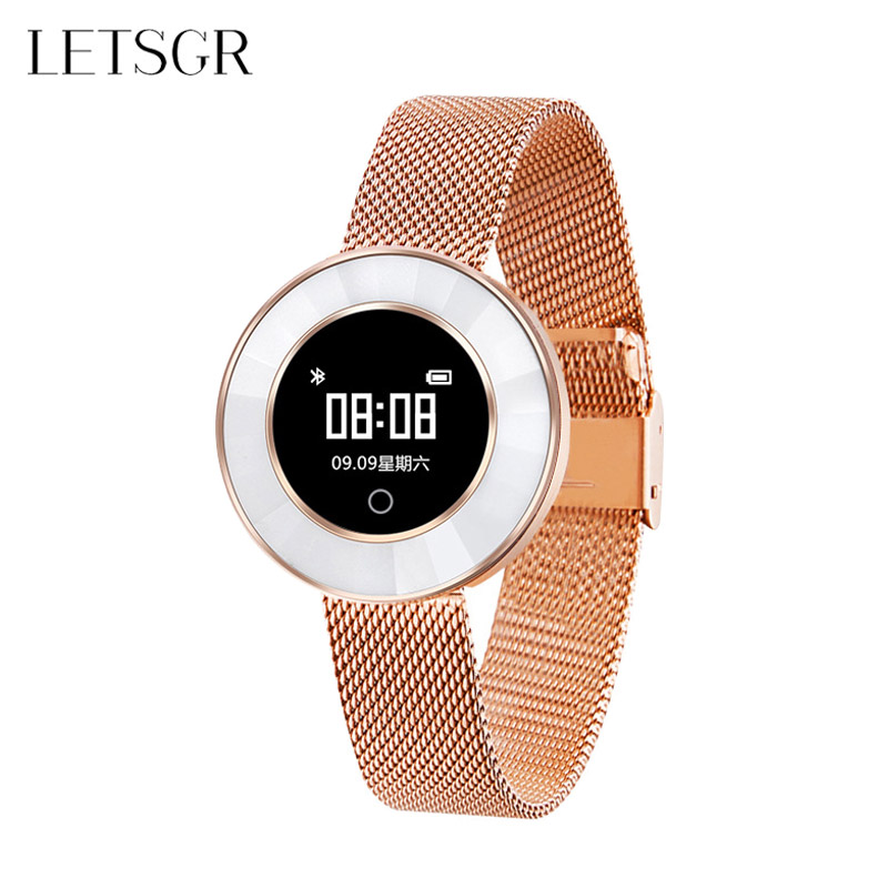 LETSGR Waterproof Fashion Elegant Women Smartwatches Fitness Activity Tracker Yoga Sports Smart Wrist Watch Pulsera Inteligente цена 2017
