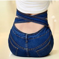 Sexy High Waisted Denim Shorts Bandage Elastic Plus Size Slim 2017 Summer Casual Trousers Short Jeans