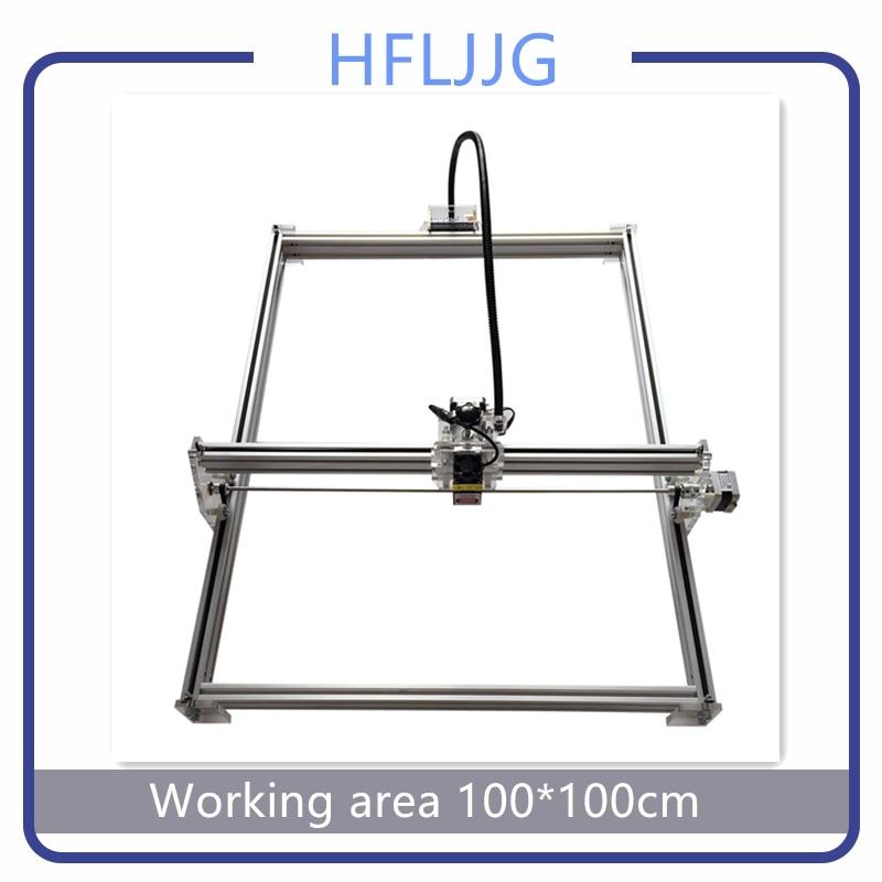 10 Вт/15 0.5whigh лазерной гравировки металла с ЧПУ для лазерной резки 1*1 м широкий размер лазерной гравировки разметочной машины