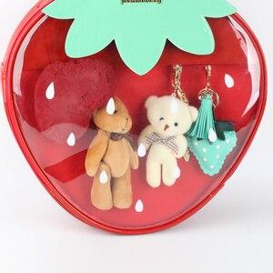 Image 4 - Bolsos de fresa Kawaii transparente Lolita Harajuku para mujer, bolsos de hombro para mujer, hermoso Color caramelo bolso Ita, regalo para chica dulce Itabag