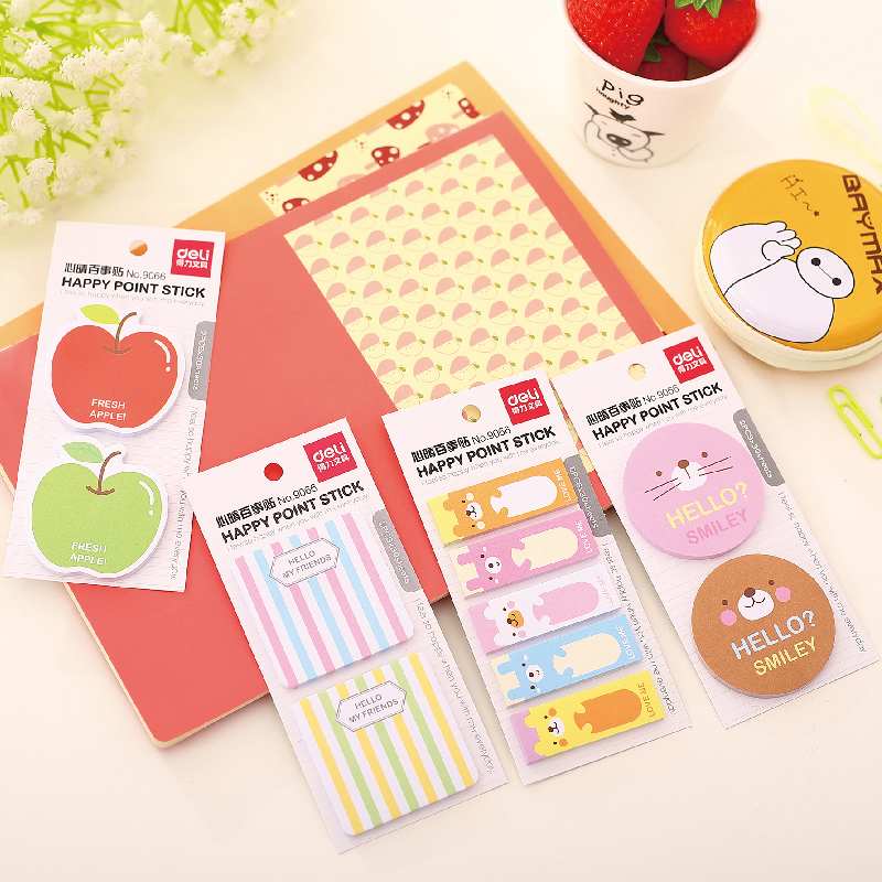 1 Pack 2 Pcs 2017 Hot Sale No Stationary Planner Stickers New Lucky Beckoning Post It Memo Bookmark Sticky Notes Deli 9066