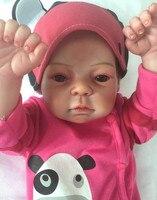22 дюймов 55 см полный силиконовые Bebe Reborn Baby Doll реалистичные натурально силикона возрождается младенцев Кукла реборн детей Brinquedos