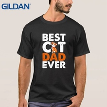 personalized shirts Hip-Hop Cat Best Cat Dad Ever china Army Green ali t shirts Adults O-Neck tee shirt cotton simple