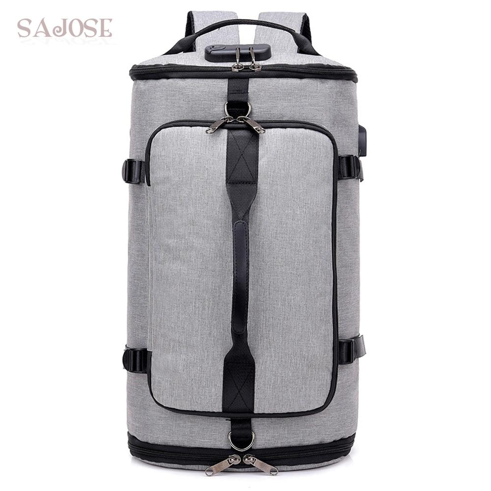 Backpacks For Men USB Anti-Theft Backpack Men's Fashion Canvas Fitness Bag Male High Capacity Travel School Teenager For Girl недорго, оригинальная цена