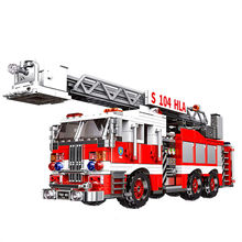 New XINGBAO 03031 City Series The Aerial Ladder Fire Truck Set Building Blocks Bricks Toys Car Model Birthday Christmas Gifts(China)