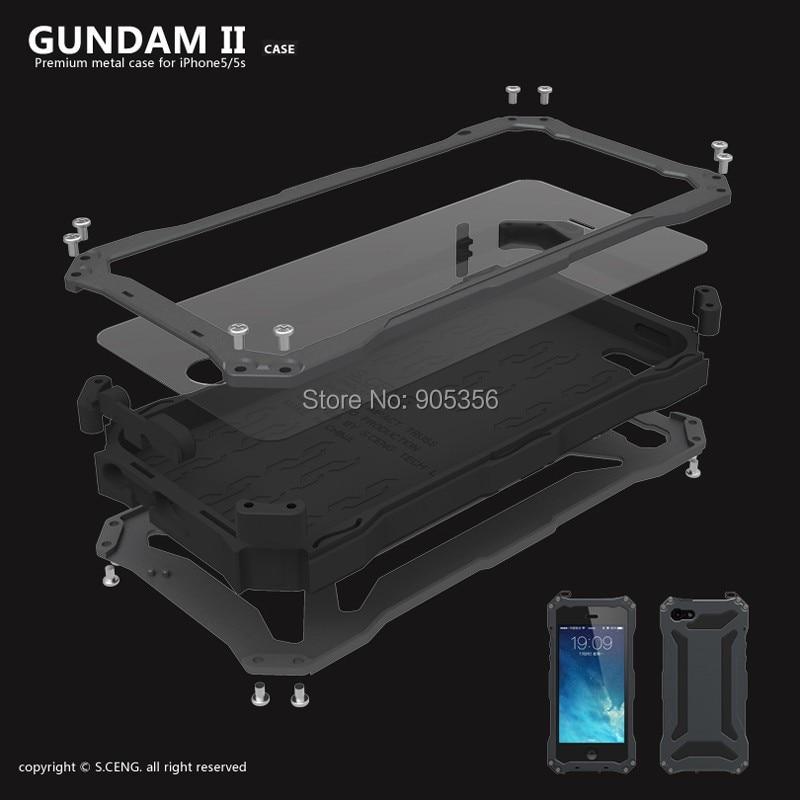 imágenes para Caso a Estrenar Para el iphone 5S Agua de Lujo/Dirt/A Prueba de Golpes Gorilla Glass de Metal Cubierta de aluminio Del Caso Para el iphone 5S 5 se 6 6 s 7 plus