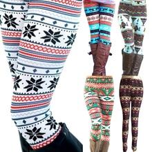 Новое поступление, женские теплые леггинсы, зимние вязаные леггинсы со снежинками, рождественские Стрейчевые штаны с принтом, девять штанов, готические леггинсы для фитнеса