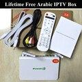 2016 Melhor Caixa de IPTV Arábica para sempre nenhuma taxa anual, 500 + canais de IPTV Árabe Francês Europa esportes set top box Caixa de TV Android