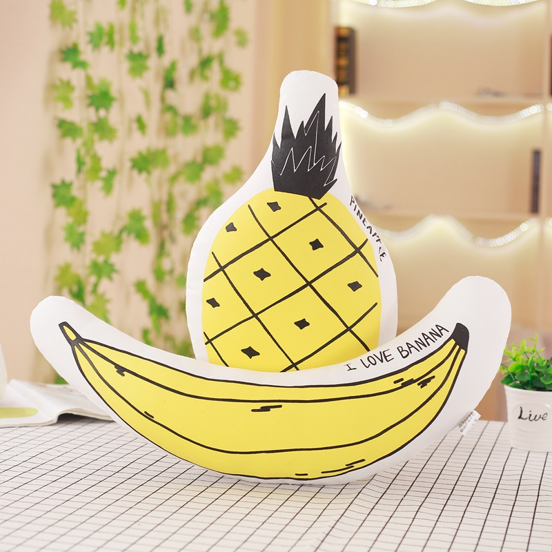 38/50cm Creative Soft Banana Pineapple Plush Pillow Staffed Lovely Fruits Plants Cushion Baby Kids Doll Birthday Christmas Gift