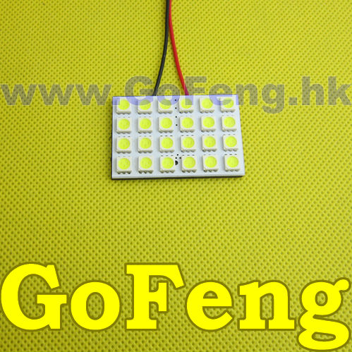 100pcs lot 24 SMD LED Headlight 5050 24SMD 24LED Light Panel T10 Festoon Adapter free shipping