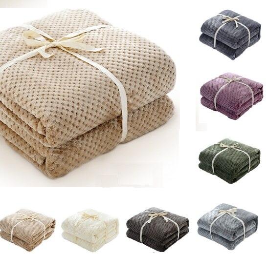 CAMMITEVER piña comprobar franela tiro buena calidad hogar textil Plaid aire habitación Otoño/Invierno uso caliente suave sábana
