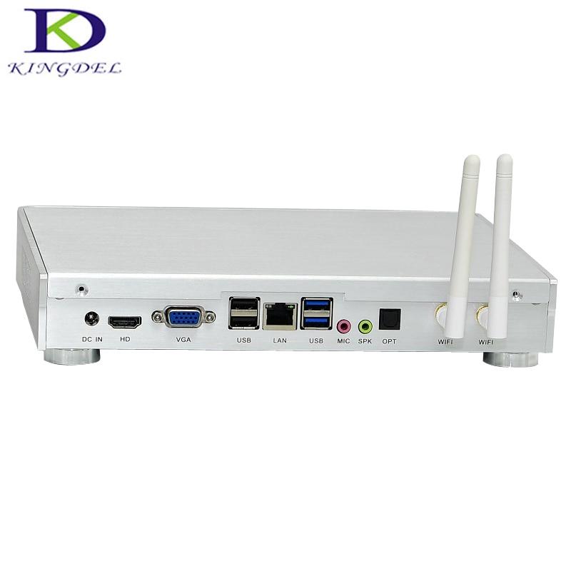 Best Selling Silent Fan Mini PC Win10 Dual Core I3-5005U Desktop PC SD Card Reader TV Box With VGA,USB 3.0,300M WIFI,HDMI Nuc PC