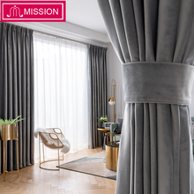 MISSION Solid Luxurious Velvet Blackout curtain Super Soft Window Curtains Drapes Shades for Living Room Bedroom Custom Made
