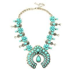 classic antique pumpkin flower necklace statement pendant necklace N100008 Latest design squash blossom necklace fabulous