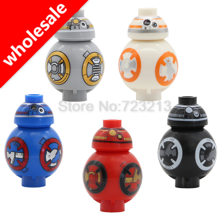 Wholesale 10set*5pcs Star Wars Figure BB8 BB-8 2.5cm starwars Dolls Building Blocks Sets Models Bricks Toys for Children ...