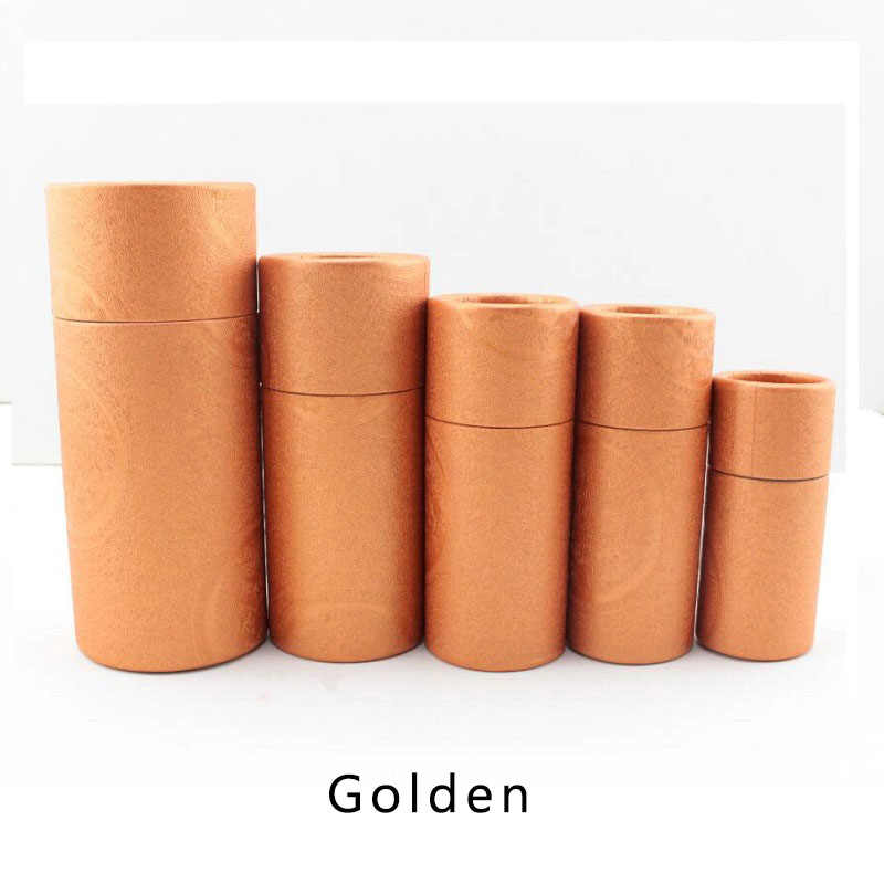 50pcs/lot Cosmetic Bottle Outer Packaging Kraft Paper Jar Tube Cylindrical  Hard Cardboard Boxes Essential oils Tube Package