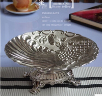 Fruit Bowl Plate Bowl Home Ktv CANDY BOWL Metal Fruit Silver Bowl Continental Carved Luxury Home