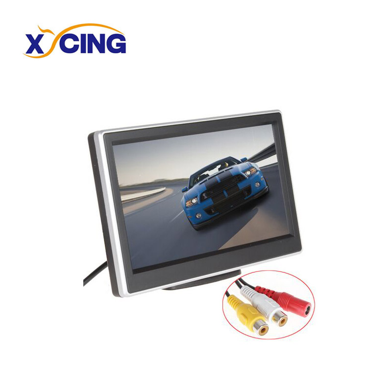 XYCING 5 Inch TFT LCD Digital Car Monitor Parking Rear View Monitor 800*480 Pixels 2 Video Input for VCD DVD GPS Camera купить в Москве 2019