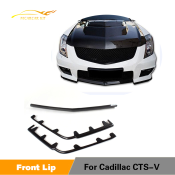 Carbon Fiber Front Bumper Center Lip Side Splitters Spoiler For Cadillac CTS-V 2009 - 2015 Non Vsport Car Styling image
