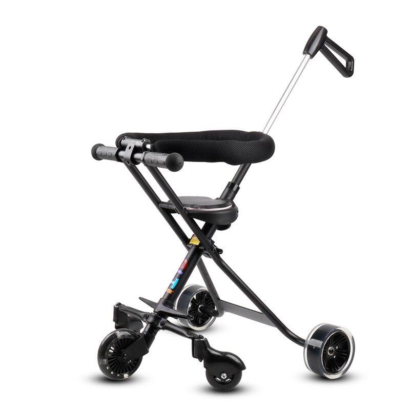 Пять колесиках Ultra Light Детские Коляски складной детский лежащего ребенка велосипед 1 5 младенцу с удлиненной ручка