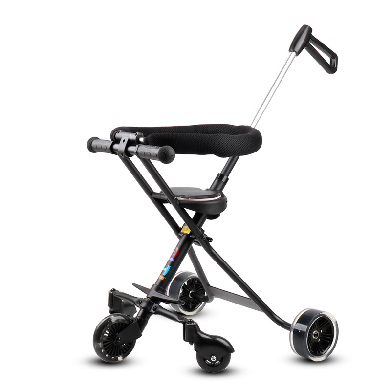 Five Wheeled Ultra Light Baby Stroller Folding Childrens Reclining Baby Bicycle 1-5 Infant Child With Lengthened Push HandleFive Wheeled Ultra Light Baby Stroller Folding Childrens Reclining Baby Bicycle 1-5 Infant Child With Lengthened Push Handle