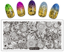10PCS/Lot Hot 2017 full Flows Nature Nail Stamping Plates Art Floral Animal Design Kit 10 Count