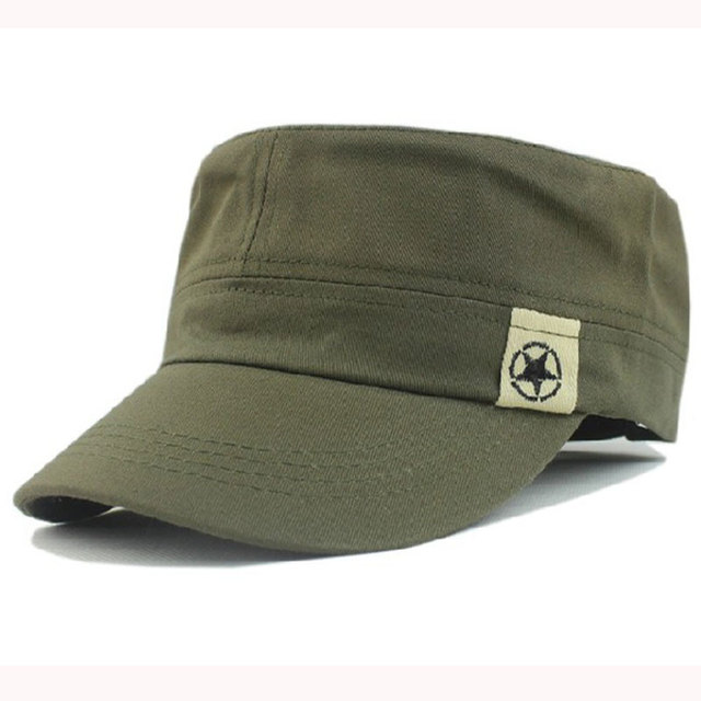 a0f40529a7fa1a Adjustable Men Women Cotton Vintage Military Hats Caps with Star  Pattern,Dark Green Black Brown