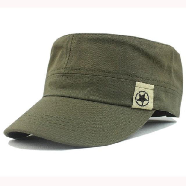Adjustable Men Women Cotton Vintage Military Hats Caps with Star  Pattern b9321d8b878