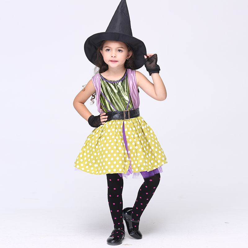2017 Girl Devil Halloween Costumes Kids Little Witch Kids Stage Performance Dress Halloween Masquerade Carnival Clothes trendy kids costumes girl maid cosplay fancy dress stage performance clothes children fantasia carnival costumes