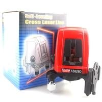 ACUANGLE A8826D Laser Level 360 degree autolivellante Croce Laser livello Linee 1V1H1D Rosso 2 Linea 1 Punto Compatibile con AK435