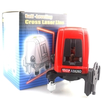 ACUANGLE A8826D Laser Level 360 Degree Self Leveling Cross Laser Level Red Lines 1V1H1D 2 Line
