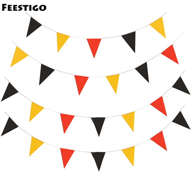 25 flagsset cheerleading props plastic hanging flags banner garland background decoration themed party birthday
