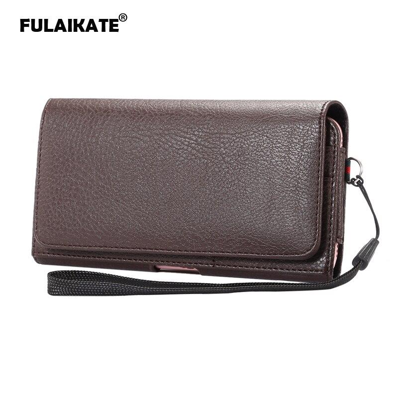 FULAIKATE 5.7 Litchi Portefeuille Sac pour iPhone6s 7 Plus Carte Taille Étui Universel pour Samsung Note5 4 Cas pour Huawei Mate7 8