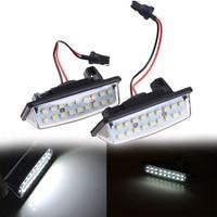 Free Shipping 2X Error Free LED License Plate Light Car License Light For Nissan TEANA 2003