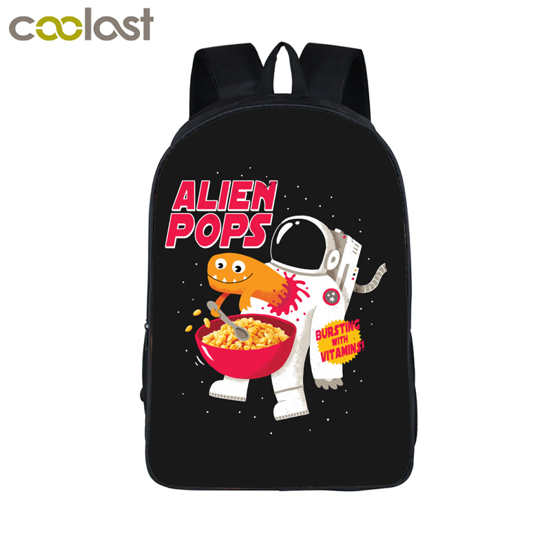 Alien Predator Teen Backpack Women Men Travel Bags mochila Girls Boys  School Bags 3D Children Schoolbag Alien Evolution Book Bag
