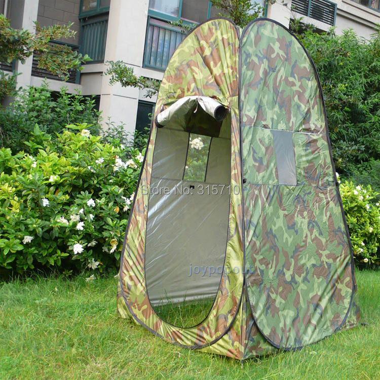 Portatile Privacy Doccia WC Camping Pop Up Tenda Camouflage / funzione UV tenda per vestirsi all'aperto / tenda da fotografia