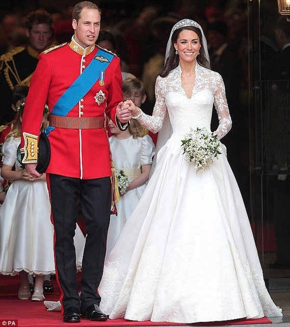 Real Sample Promi Brautkleider Kate Middleton Prinzessin Modest ...