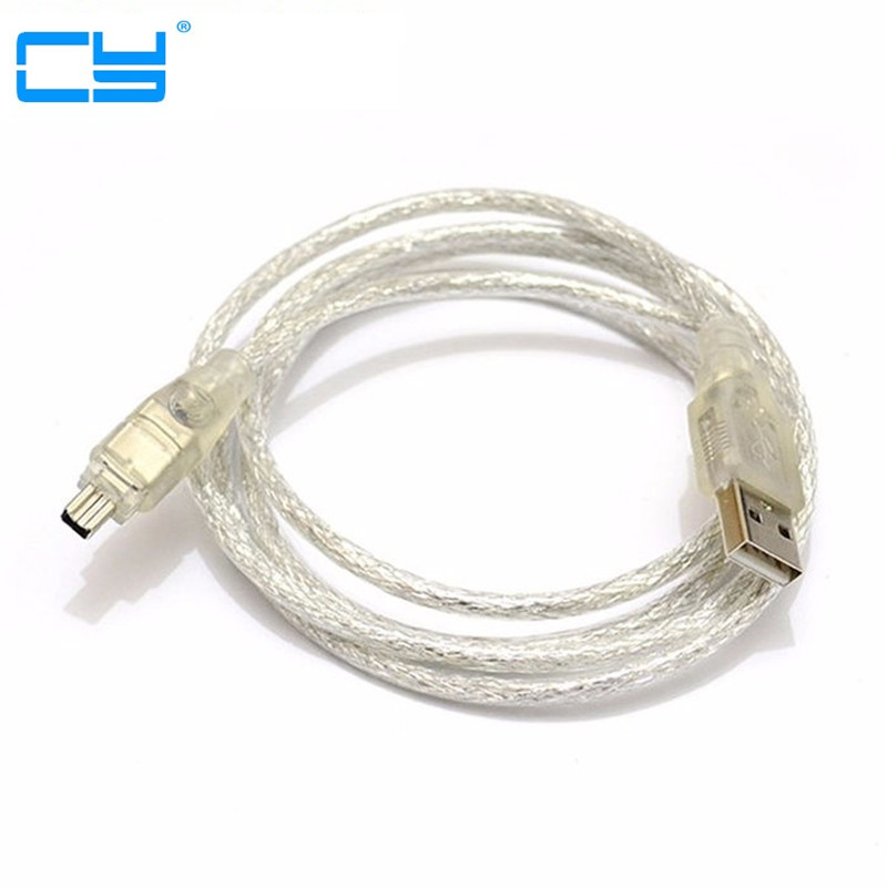 USB Male to Firewire IEEE 1394 4 Pin Male iLink Adapter Cord firewire 1394 Cable for SONY DCR-TRV75E DV 9 pin female firewire ilink to 4 pin male ieee 1394 1394b a b 800 to 400 adapter