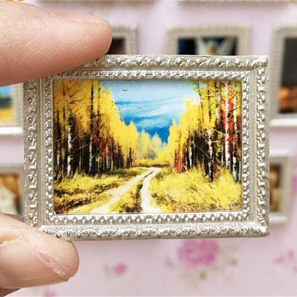 Toys & Hobbies Hearty Novelty Funny Gifts Baby Kids Toy 1:12 Dollhouse Miniature Framed Wall Painting Doll Househome Decor Room Items