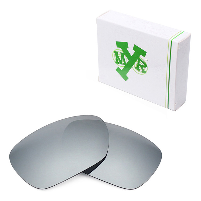 668346058b Mryok Anti-Scratch POLARIZED Replacement Lenses for Oakley Inmate  Sunglasses Silver Titanium