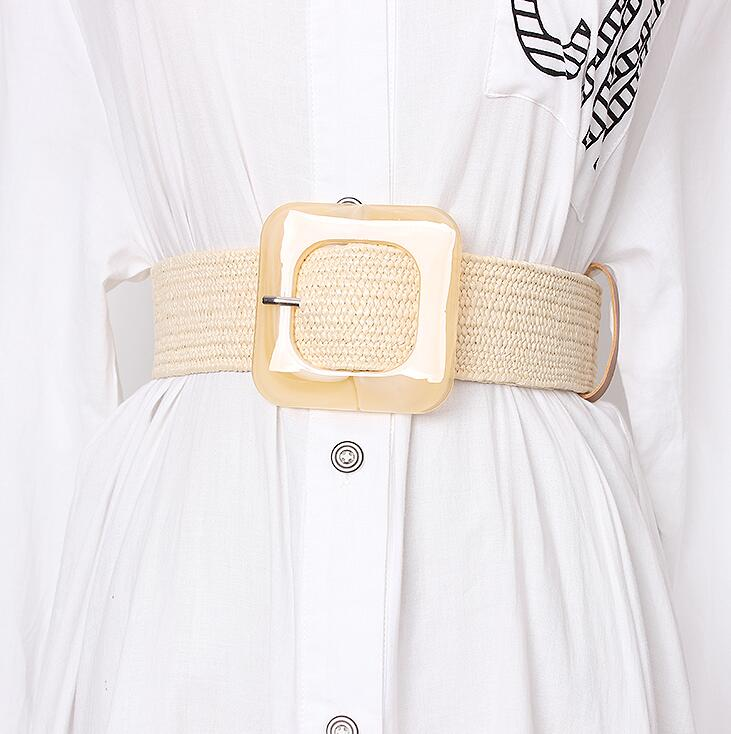Women's Runway Fashion Knitted Cummerbunds Female Dress Corsets Waistband Belts Decoration Wide Belt R1684