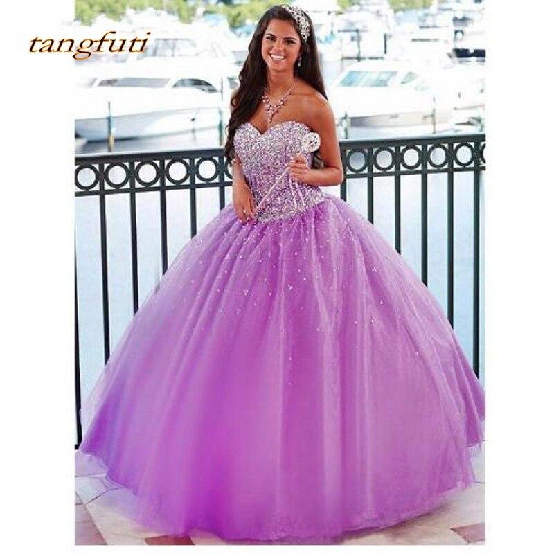 19f76d59783f8ec Пышное Платье с длинным роскошное бальное платье кружево с  бусинами-кристаллами Пром дебютантка шестнадцать сладкий