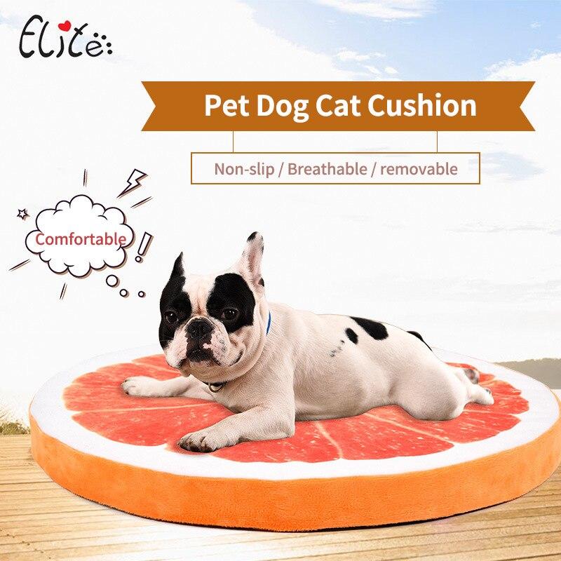 ᐂElite sandía/naranja perro gatito cama perro caliente cojín ...