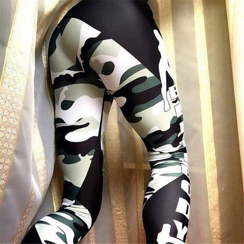 Fitness Leggings Camo: Fitness Legging Women Army Camo Legging Camouflage Pants