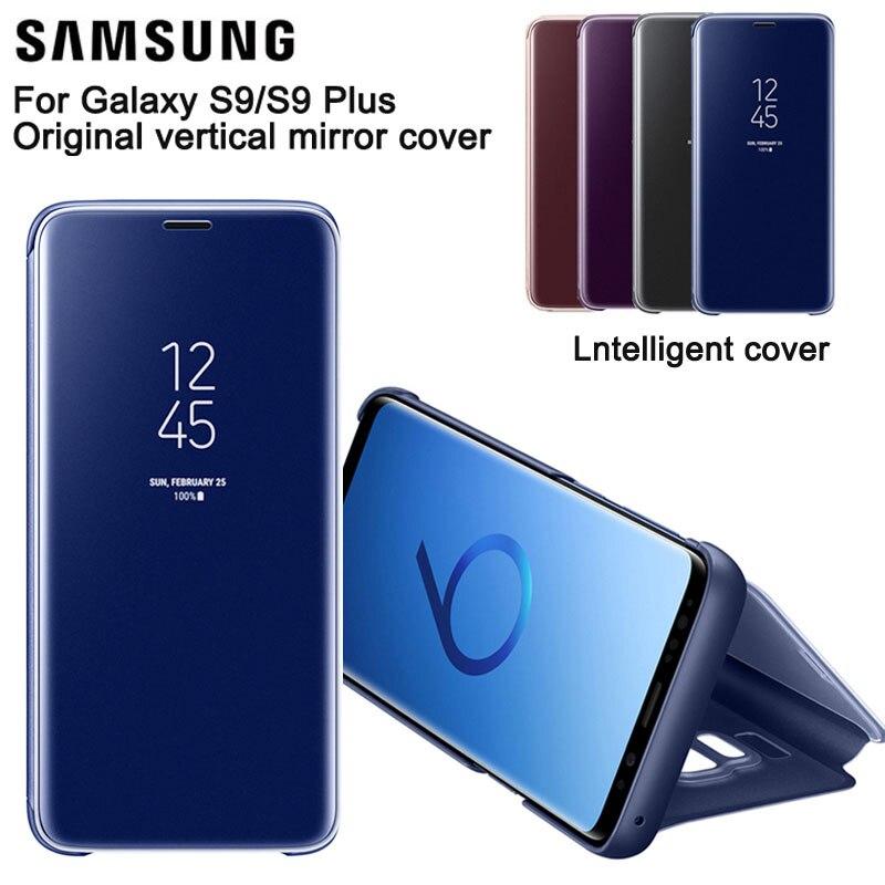 Samsung Miroir Vertical Coque de Protection de Téléphone Housse De Téléphone étui pour Samsung GALAXY S9 + Plus G9650 S9 G9600 Étui Mince